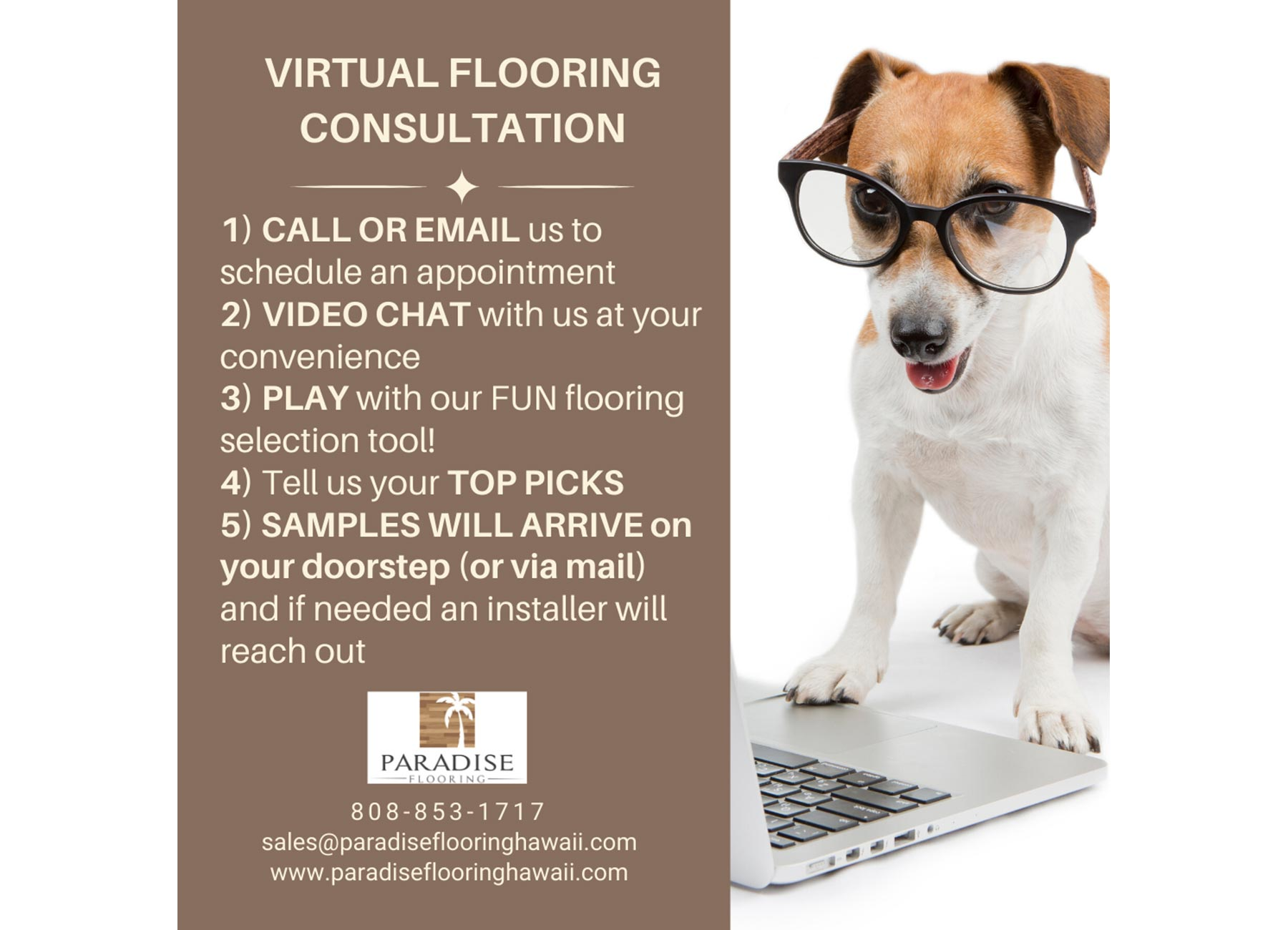image promoting virtual consultations with sales staff.