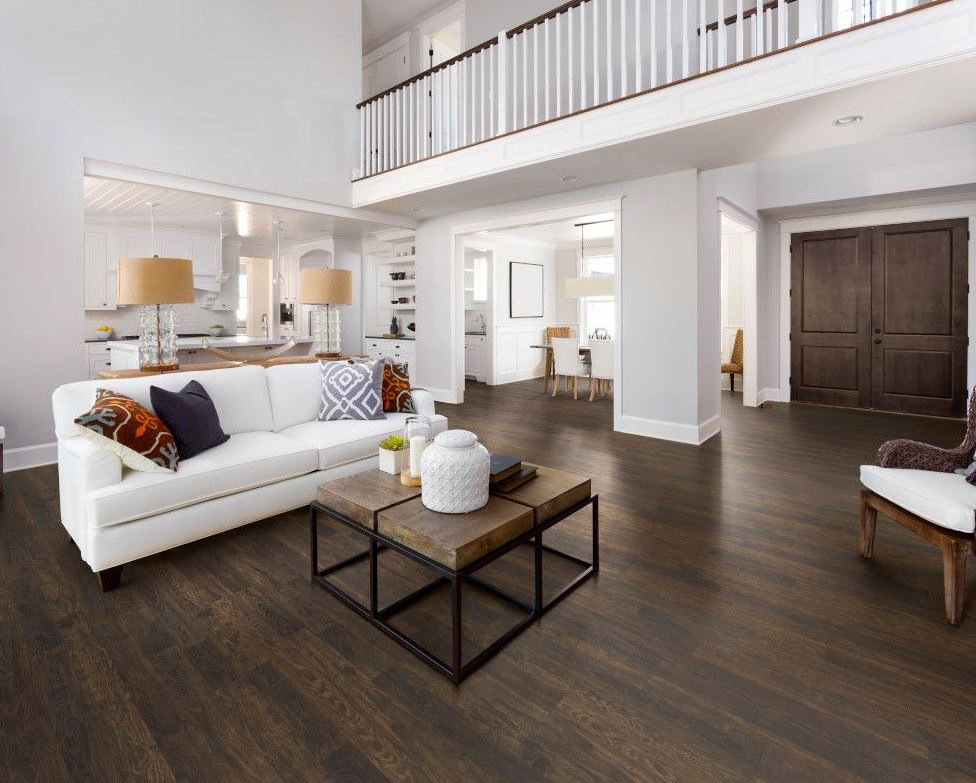 image of Swiss Krono laminate flooring in a living area